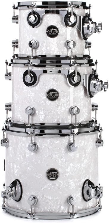 DW Performance Series 3-pc Tom Pack - White Marine Finish Ply image 1
