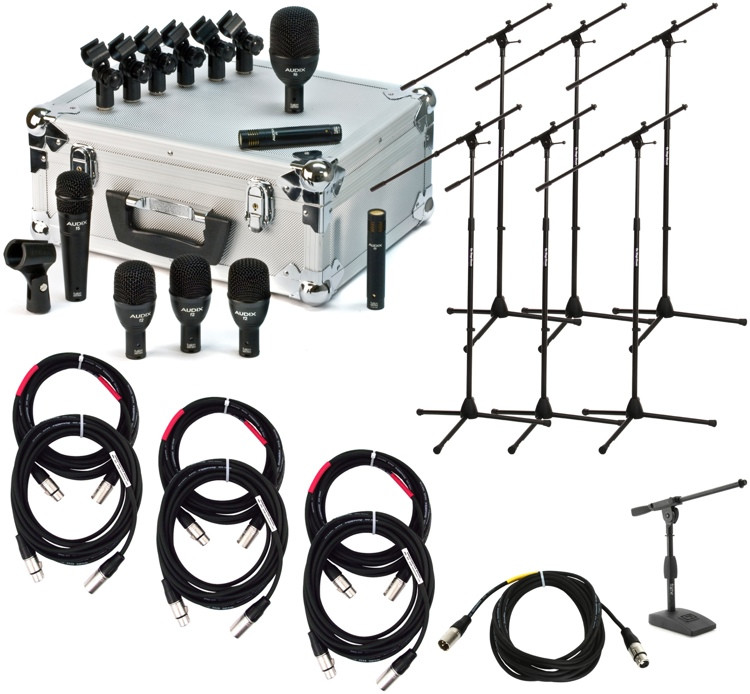 Audix FP7 Drum Package with Stands and Cables image 1