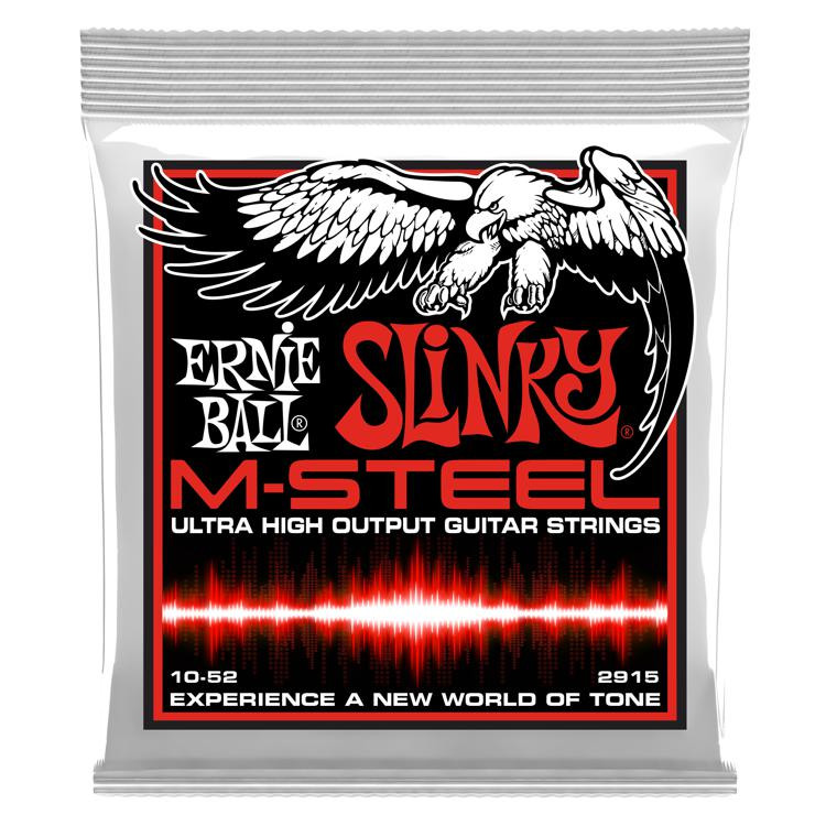 Ernie Ball 2915 M-Steel Skinny Top Heavy Bottom Electric Strings - .010-.052 image 1