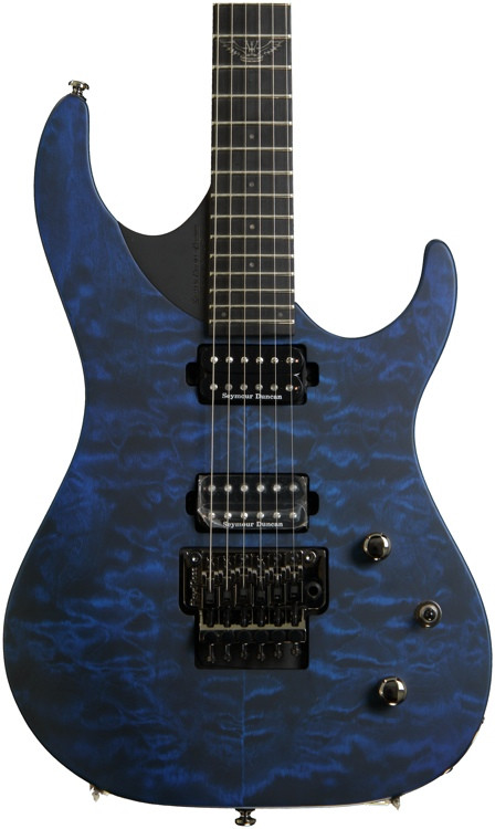 Washburn Parallaxe PXM10 - Quilted Trans Blue image 1