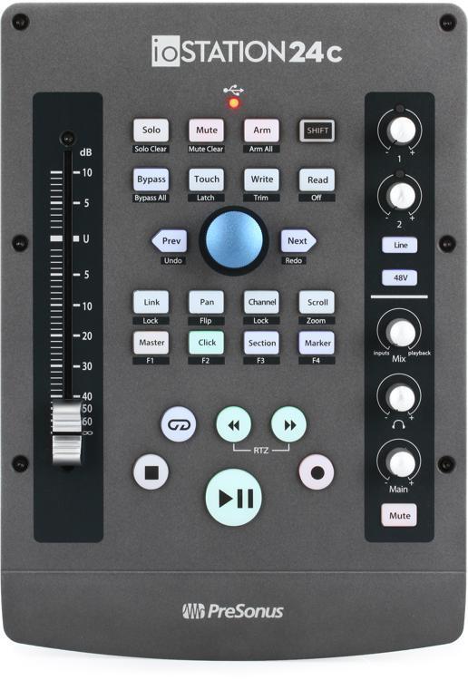 PreSonus ioStation 24C 2x2 USB-C Audio Interface and Production Controller