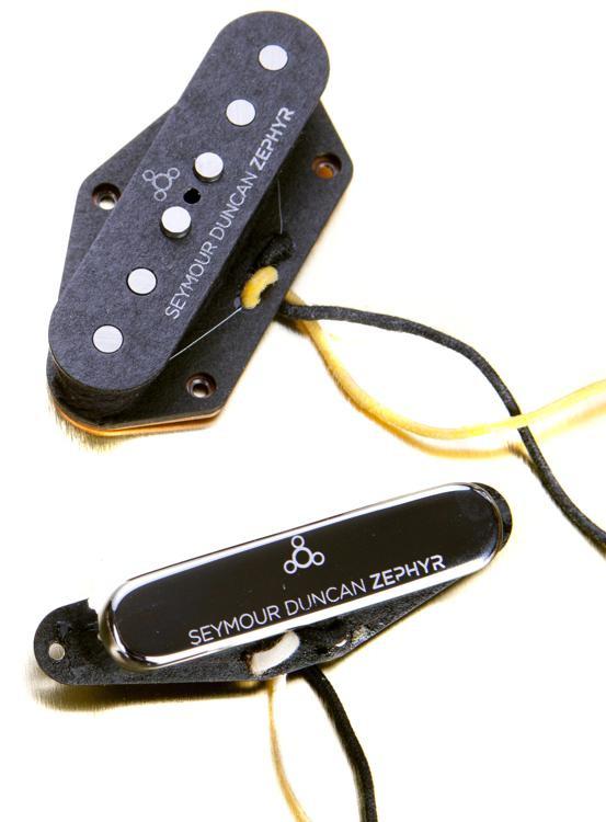 Seymour Duncan Zephyr Silver Tele Pickup Set - Black/Silver image 1