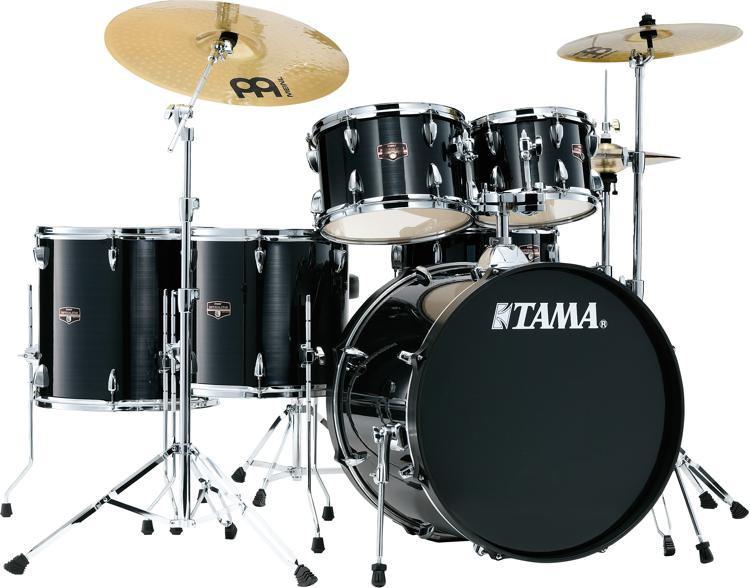 tama imperialstar complete drum set 6 piece hairline black sweetwater. Black Bedroom Furniture Sets. Home Design Ideas