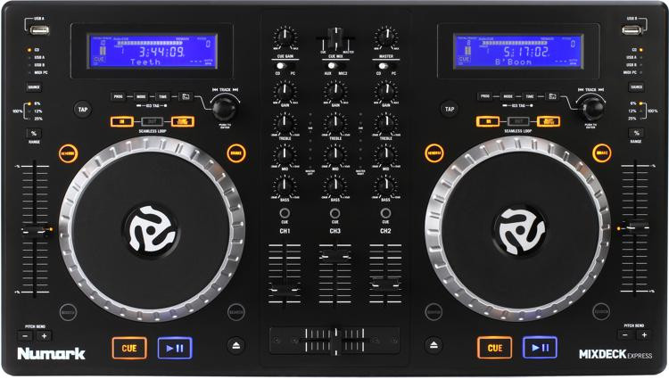 Mixdeck Express DJ Controller with Dual CD and USB Playback