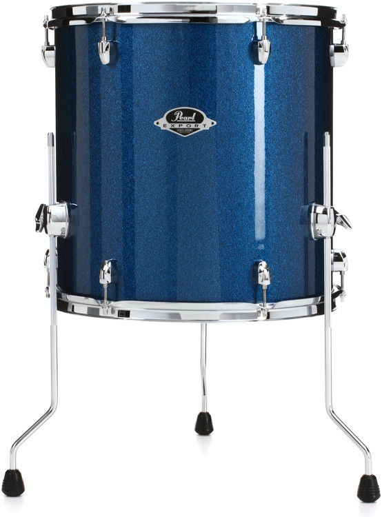 pearl export exx floor tom 16 x16 electric blue sparkle sweetwater. Black Bedroom Furniture Sets. Home Design Ideas