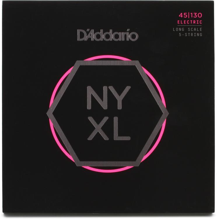 D\'Addario NYXL45130 Nickel Wound Bass Strings .045-.130 Regular Light, 5-string image 1