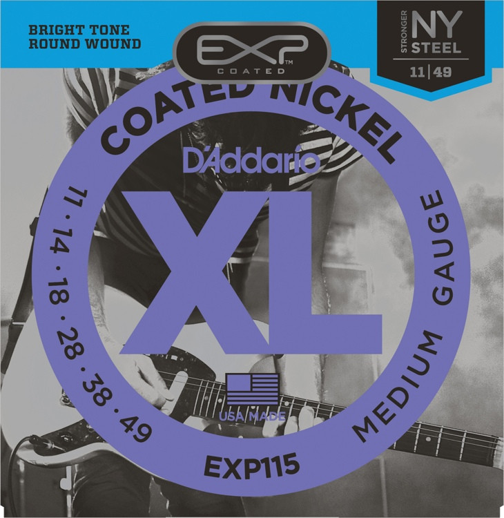 D\'Addario EXP115 Coated Nickel Plated Steel Blues/Jazz Rock Electric Strings image 1