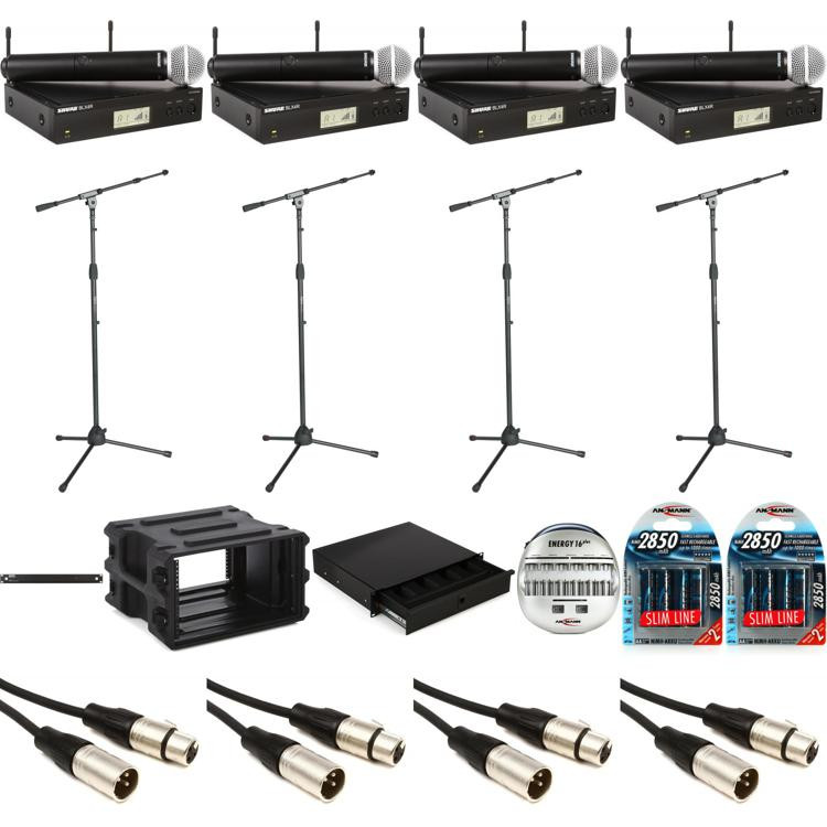 shure blx2 sm58 complete handheld wireless microphone system sweetwater. Black Bedroom Furniture Sets. Home Design Ideas