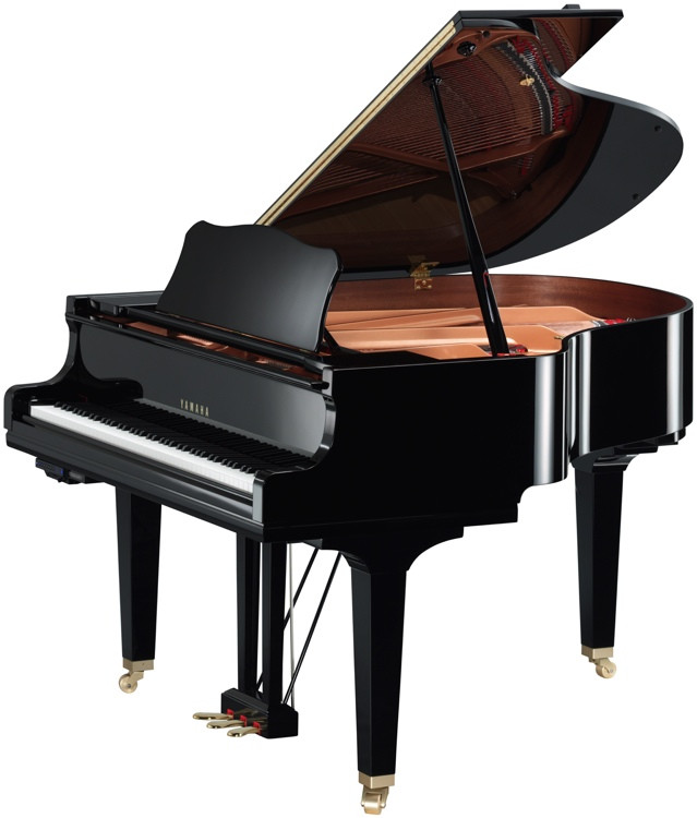 Yamaha GC1TA TransAcoustic Grand Piano - Polished Ebony finish image 1