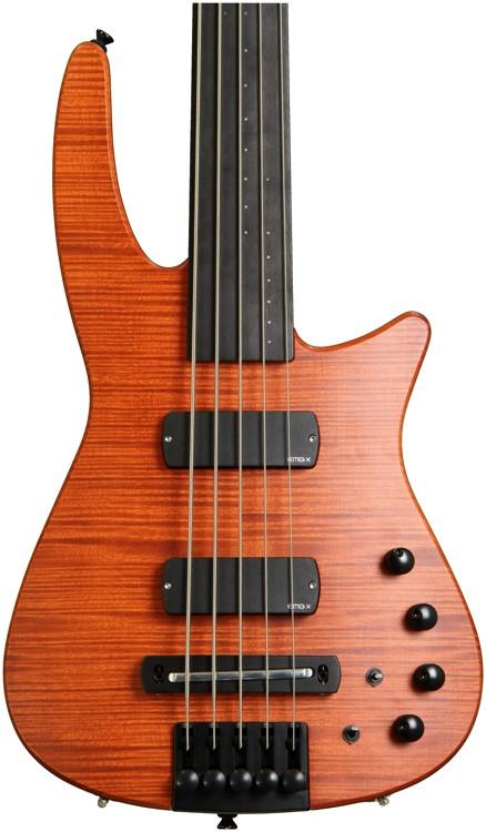 NS Design CR5 Radius Bass Guitar Amber Satin, Fretless image 1