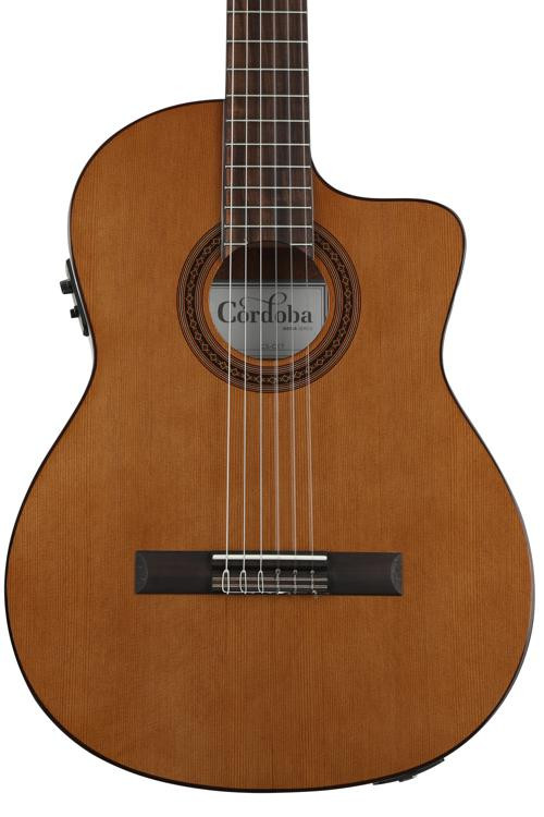 Cordoba C5-CET Thinline - Canadian Cedar Top image 1