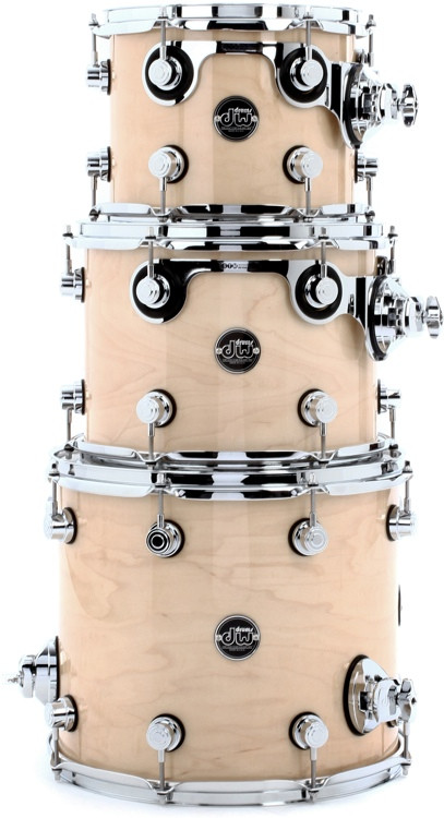 DW Performance Series 3-piece Tom Pack - Natural Lacquer image 1