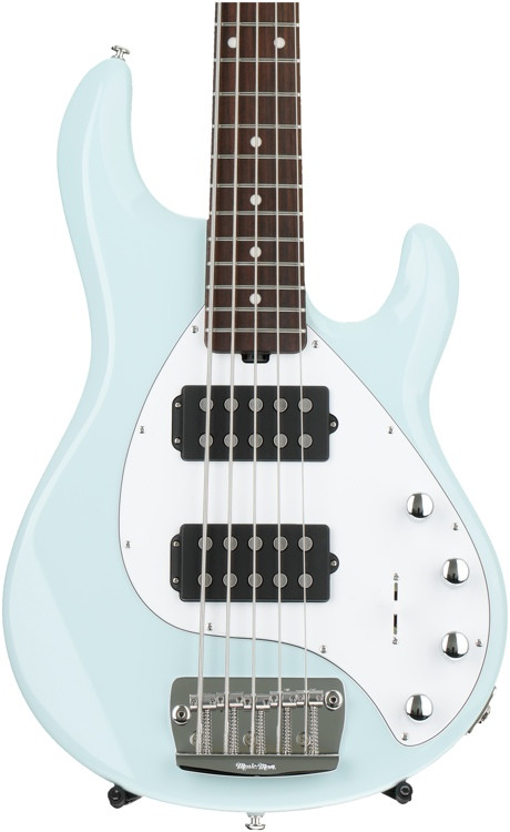 ernie ball music man stingray 5 hh powder blue rosewood fingerboard sweetwater. Black Bedroom Furniture Sets. Home Design Ideas