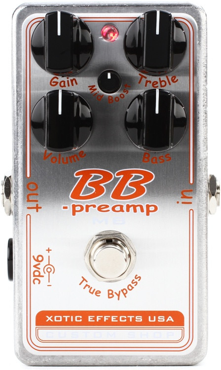 xotic custom shop bb preamp mb pedal sweetwater. Black Bedroom Furniture Sets. Home Design Ideas