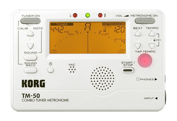 Korg TM-50 Tuner Metronome - White image 1