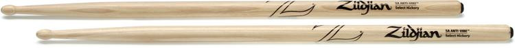 Zildjian 5AWA 5A Hickory Anti-Vibe Drumsticks - Wood Tip image 1