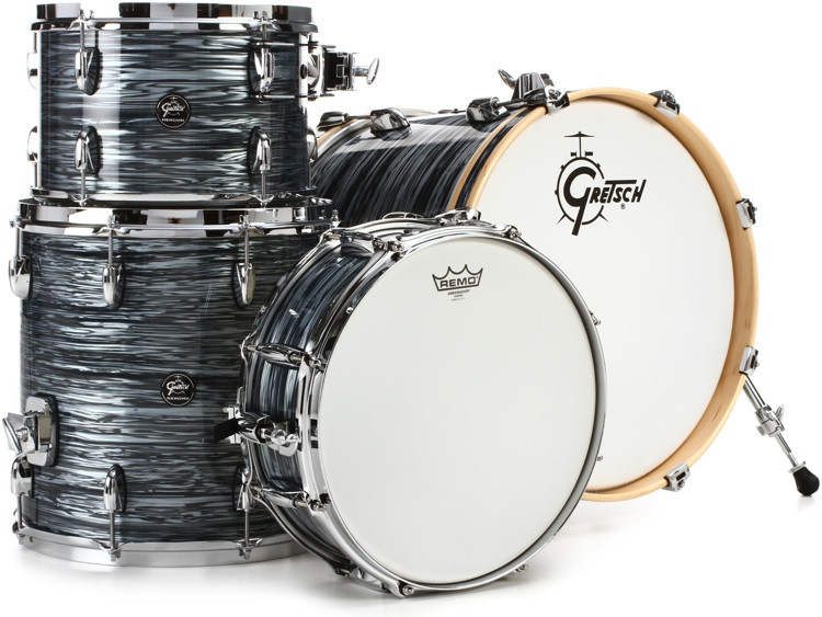 Gretsch Drums Renown 4-piece Jazz Shell Pack with Matching Snare - Silver Oyster Pearl image 1