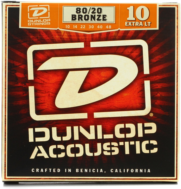 Dunlop DAB1048 80/20 Bronze Extra Light Acoustic Strings image 1