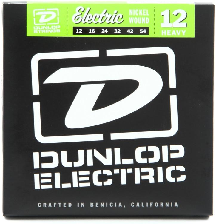 Dunlop DEN1254 Nickel Plated Steel Electric Strings - .012-.054 - Heavy image 1