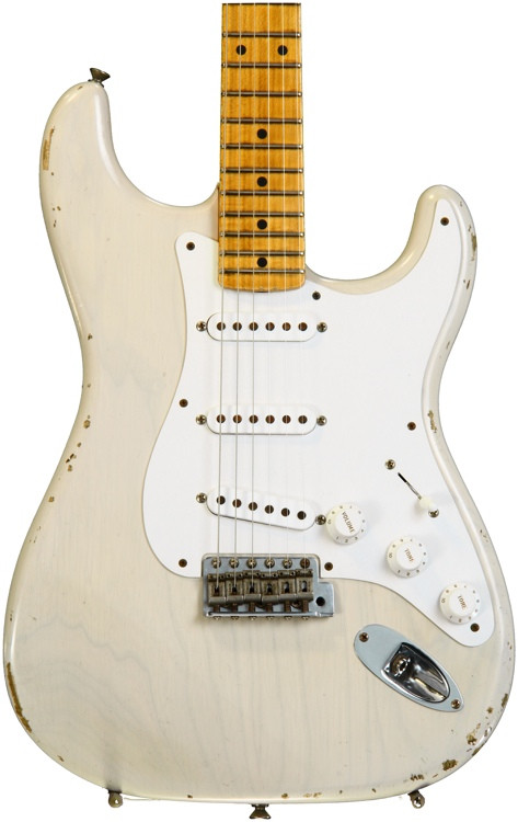 Fender Custom Shop 1955 Relic Stratocaster Limited Edition - Dirty White Blonde image 1