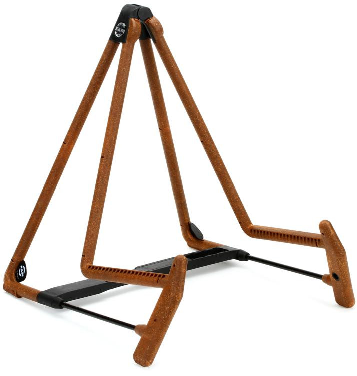 K&M 17580 Heli 2 Acoustic Guitar Stand - Cork image 1