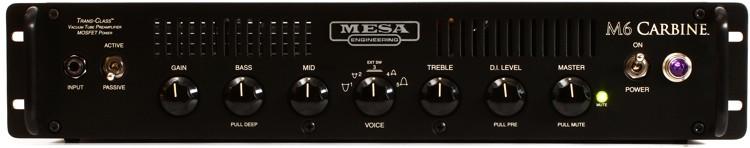 mesa boogie m6 carbine 600 watt bass head rackmount sweetwater. Black Bedroom Furniture Sets. Home Design Ideas