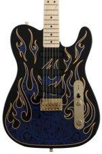 Fender James Burton Telecaster - Blue Paisley Flames