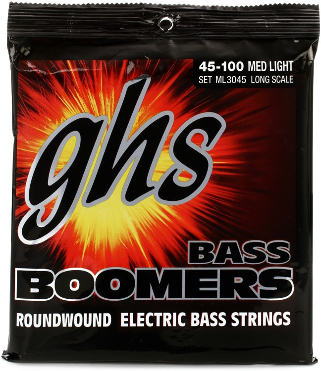 GHS ML3045 Bass Boomers Roundwound Long Scale Medium Light Electric Bass Strings image 1