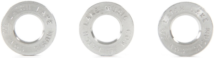 Latch Lake Jam Nuts - Chrome, 3-Pack image 1