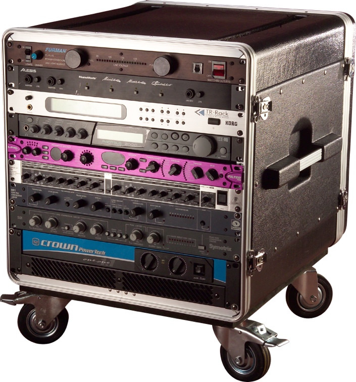 Gator GRC-BASE-10 - 10U Rack Base w/ casters, for Console Audio Racks image 1