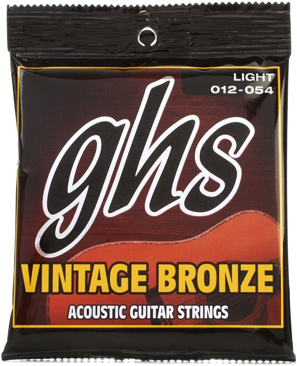 GHS VN-L Vintage Bronze 85/15 Light Acoustic Guitar Strings image 1