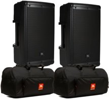 JBL EON610 Speaker Pair with Bags