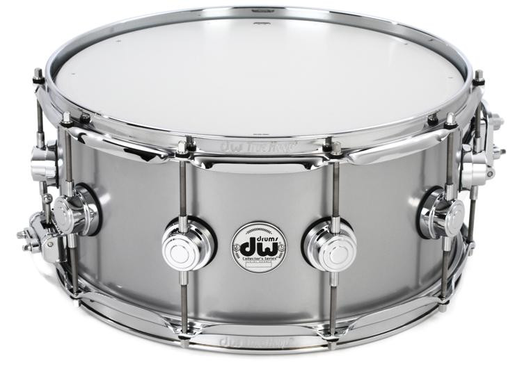 dw collector 39 s series metal snare 6 5 x 14 aluminum 1mm sweetwater. Black Bedroom Furniture Sets. Home Design Ideas