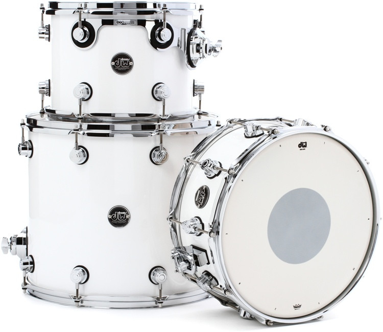 DW Performance Series 3-piece Tom/Snare Pack - White Ice Lacquer image 1