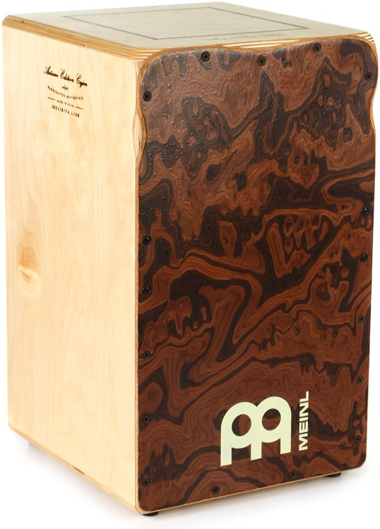 Meinl Percussion Artisan Edition Seguiriya Line Flamenco Cajon - Birch with Canyon-Burl Frontplate image 1
