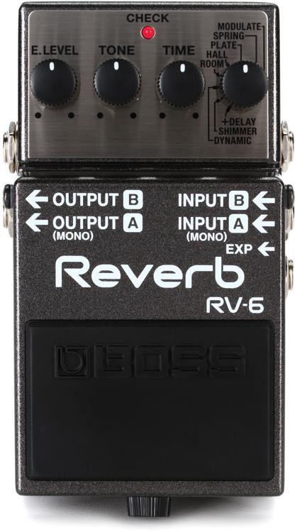 Boss Rv 6 Digital Reverb Pedal Sweetwater