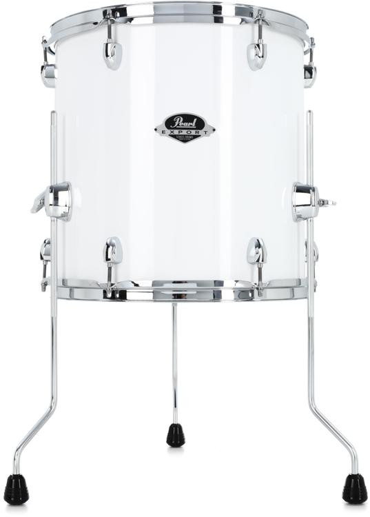 pearl export exx floor tom 14 x14 pure white sweetwater. Black Bedroom Furniture Sets. Home Design Ideas