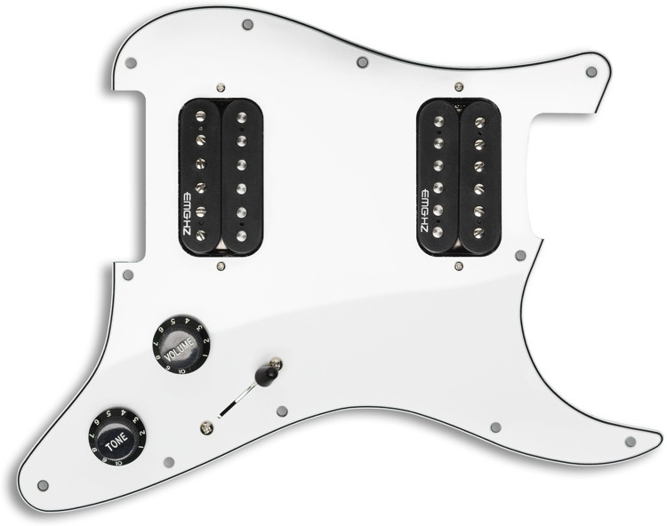 EMG ST12 Strat Style Pre-Wired Pickguard H/H White image 1