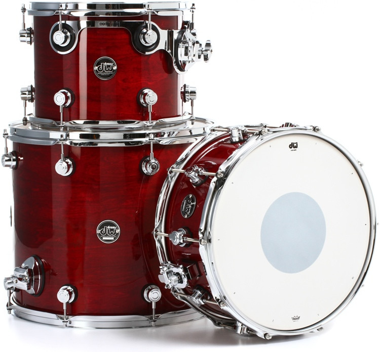 DW Performance Series 3-piece Tom/Snare Pack - Cherry Stain Lacquer image 1