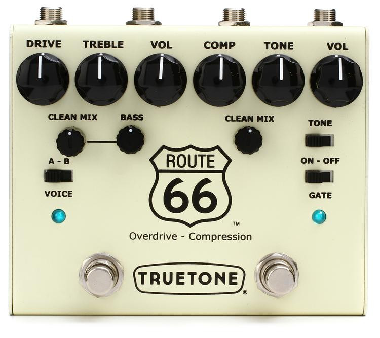 Truetone Route 66 V3 Series Overdrive / Compression Pedal image 1