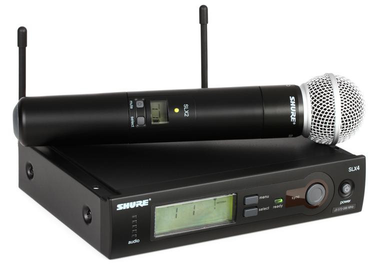 shure slx24 sm58 handheld wireless microphone system j3 band sweetwater. Black Bedroom Furniture Sets. Home Design Ideas