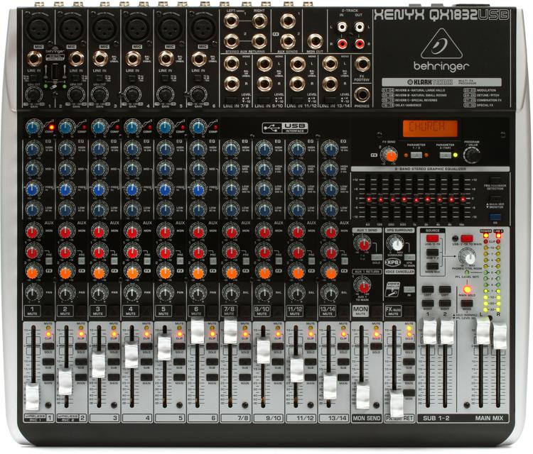 Behringer Xenyx QX1832USB Mixer and USB Audio Interface with Effects image 1