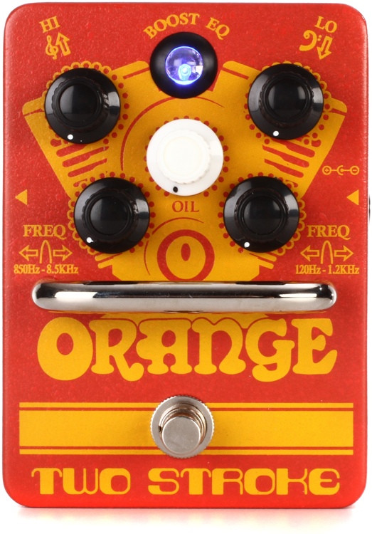 Orange Two Stroke Boost EQ Pedal image 1