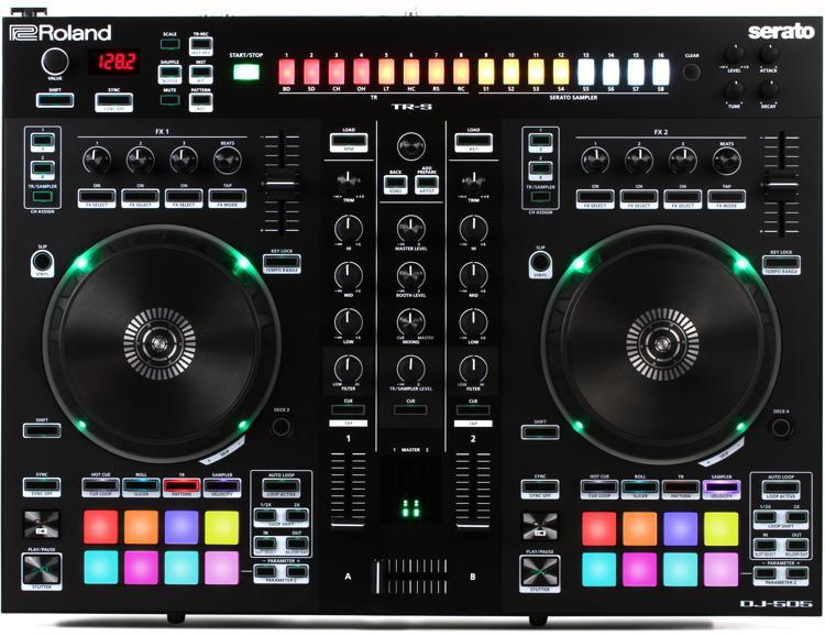 DJ-505 2-deck Serato DJ Controller with Drum Machine