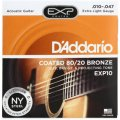 D'Addario EXP10 Coated 80/20 Bronze Extra Light Acoustic Strings