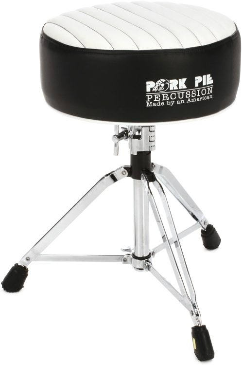 Pork Pie Percussion Deuce Series Round Drum Throne - Black with White Tuck and Roll image  sc 1 st  Sweetwater & Pork Pie Percussion Deuce Series Round Drum Throne - Black with ... islam-shia.org