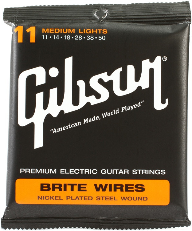 Gibson Accessories 700ML Brite Wires Electric Strings - .011-.050 - Medium Light image 1