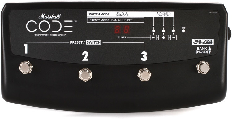 Marshall PEDL-91009 4-way Footswitch for Code Amplifiers image 1