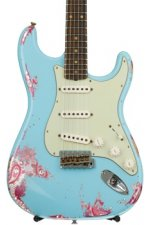 Fender Custom Shop '60s Stratocaster Heavy Relic/Closet Classic Mix - Daphne Blue over Pink Paisley with Rosewood Fingerboard