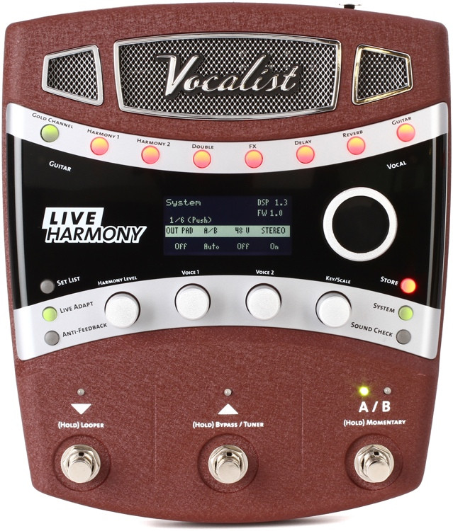 digitech vocalist live harmony vocal fx processor sweetwater. Black Bedroom Furniture Sets. Home Design Ideas